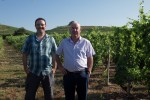 fayolle dad and son in the hermitage vineyards