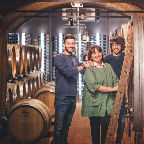 livia fontana family in the cellar