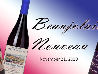 Beaujolais Nouveau day is November 21, 2019!