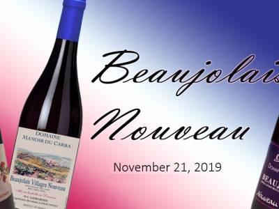 Beaujolais Nouveau day is November 21, 2019!